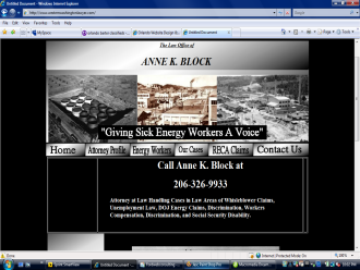 Sick Energy Workers Attorney  Anne K Block